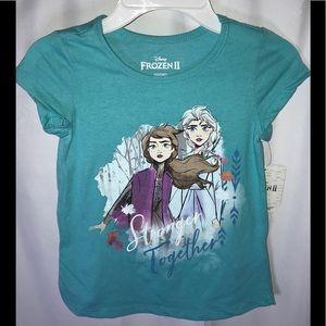 Disney frozen two turquoise short sleeve T-shirt